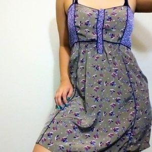 Urban Outfitters Sage Flower Print Dress